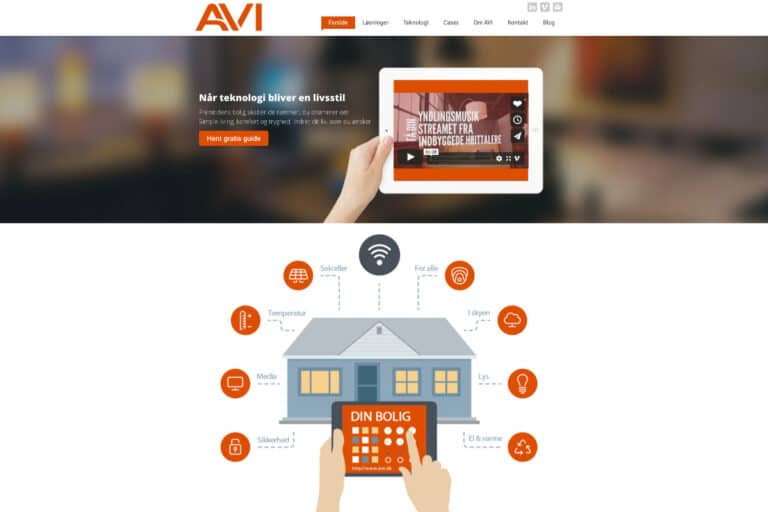 AVI.dk - endnu en hjemmeside i WordPress
