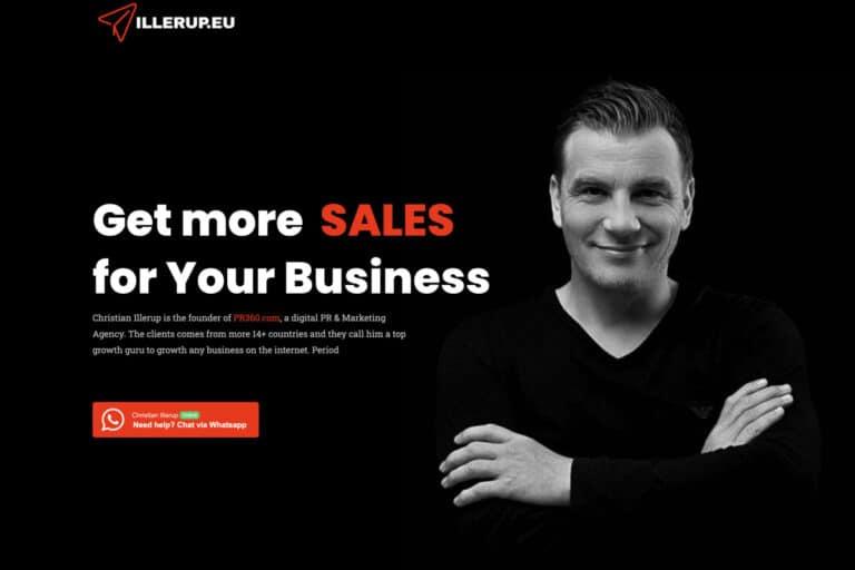 Illerup.eu - WordPress hjemmeside udviklet til Christian Illerup