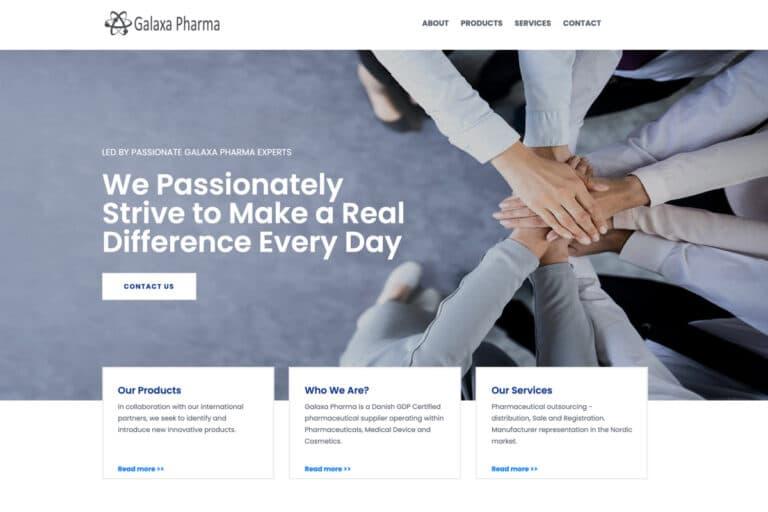 Galaxapharm har også valgt wordpress som hjemmeside