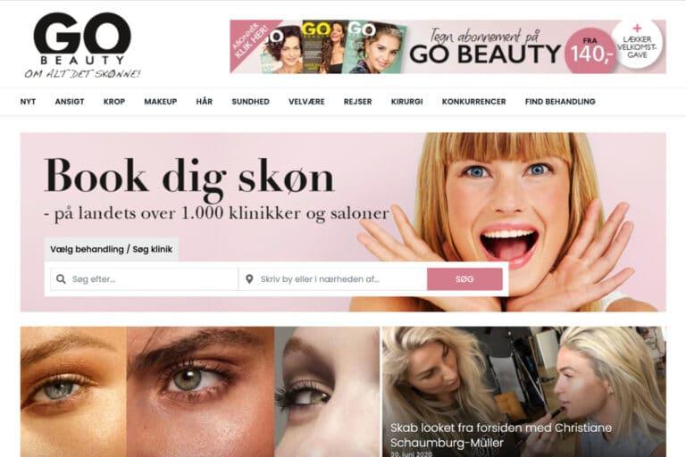 Gobeauty.dk hjemmeside udviklet i wordpress