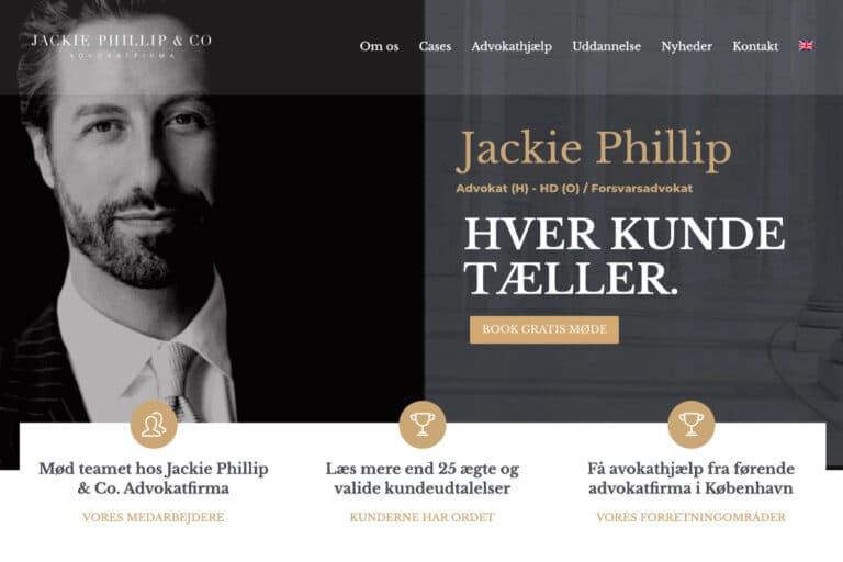 Advokat Jackie Phillip har fået nyt website hos YGO designet i wordpress