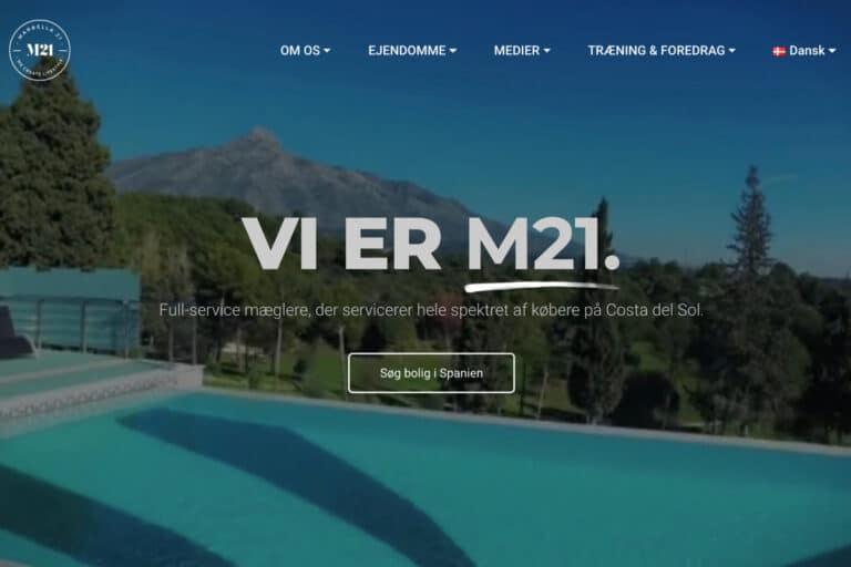 Ny WordPress hjemmeside til marbella21.com