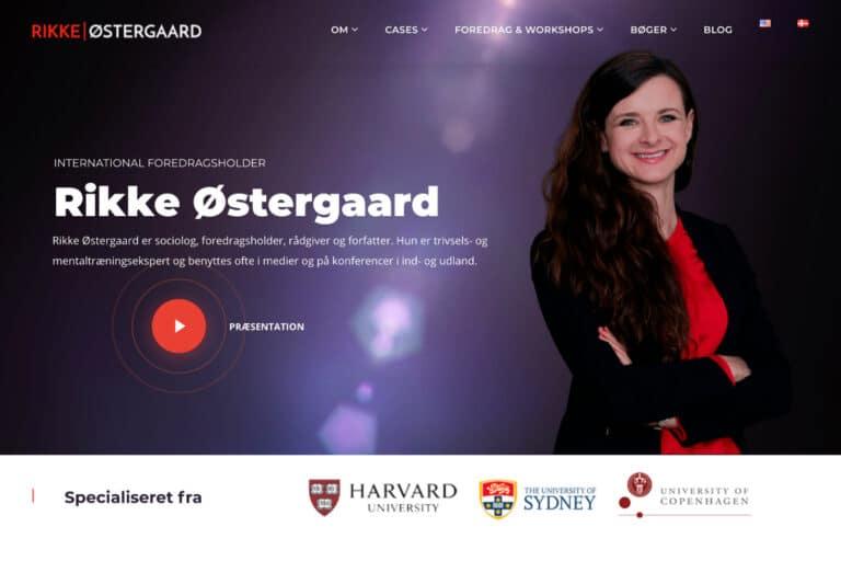 Ny WordPress hjemmeside til Rikke Østergaard