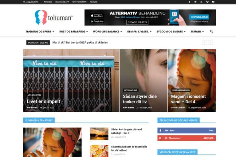 Wordpress webdesign til Tohuman