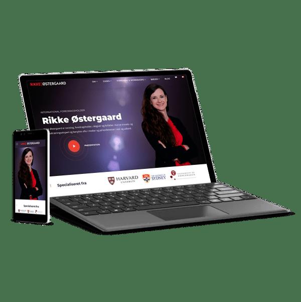 webdesign til Rikke Østergaard